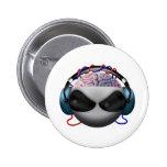 Brain 2 Inch Round Button