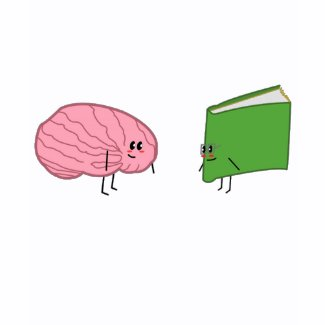 Brain <3 Book shirt