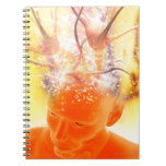 Brain activity, conceptual computer artwork. notebook