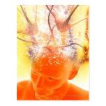 Brain activity, conceptual computer artwork. postcard