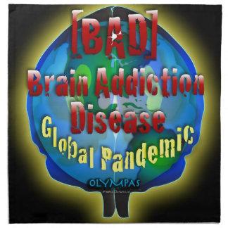 Brain Addiction Disease Cloth Napkin