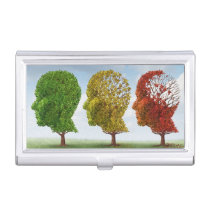 Brain Aging Business Card Holder
