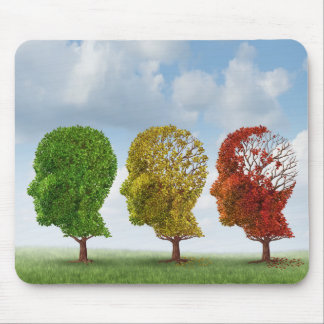 Brain Aging Mouse Pad
