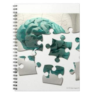 Brain analysis, conceptual computer artwork. notebook