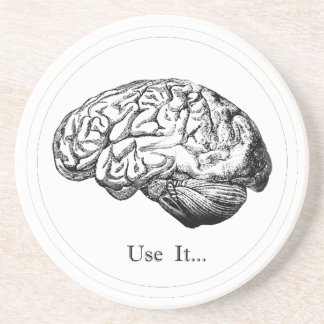 Brain Anatomy - Use It Drink Coaster