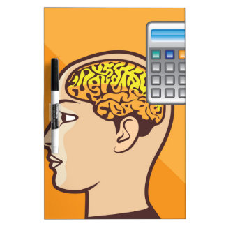 Brain and Calculator Dry-Erase Board