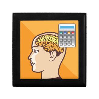 Brain and Calculator Keepsake Box