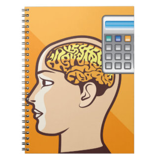 Brain and Calculator Notebook