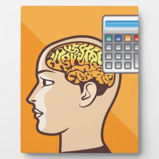 Brain and Calculator Plaque