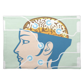 Brain and Head Functions Diagram Cloth Placemat
