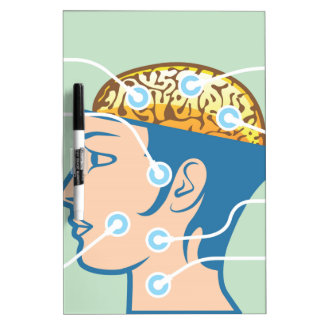 Brain and Head Functions Diagram Dry Erase Board