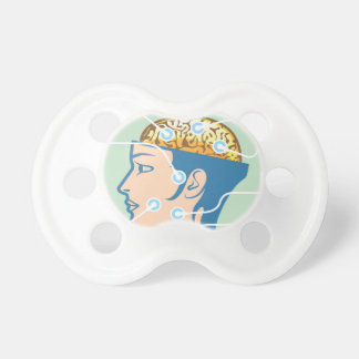 Brain and Head Functions Diagram Pacifier