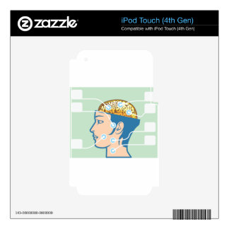 Brain and Head Functions Diagram Skin For iPod Touch 4G