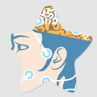 Brain and Head Functions Diagram Star Sticker