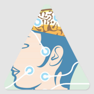 Brain and Head Functions Diagram Triangle Sticker