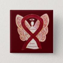 Brain Aneurysm Awareness Angel Ribbon Art Pin