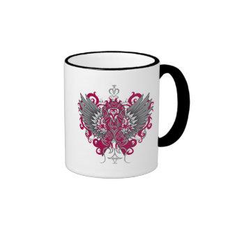 Brain Aneurysm Awareness Cool Wings Ringer Coffee Mug