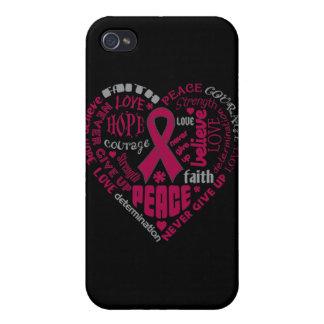 Brain Aneurysm Awareness Heart Words iPhone 4/4S Cover