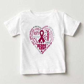 Brain Aneurysm Awareness Heart Words T-shirt