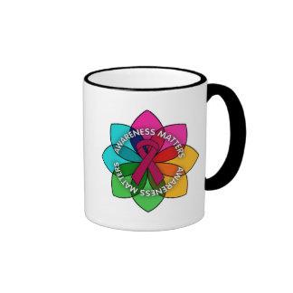 Brain Aneurysm Awareness Matters Petals Ringer Coffee Mug