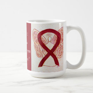 Brain Aneurysm Awareness Ribbon Angel Custom Mug
