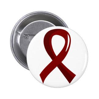Brain Aneurysm Burgundy Ribbon 3 2 Inch Round Button