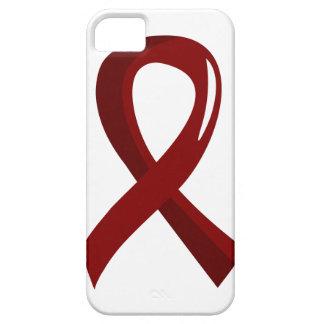 Brain Aneurysm Burgundy Ribbon 3 iPhone SE/5/5s Case