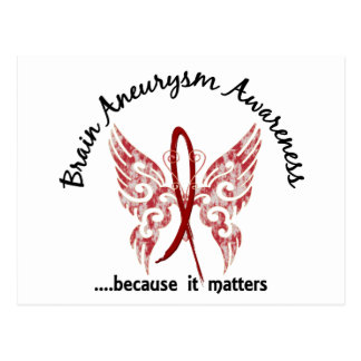 Brain Aneurysm Butterfly 6.1 Postcard