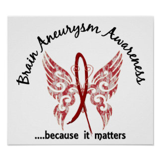 Brain Aneurysm Butterfly 6.1 Poster