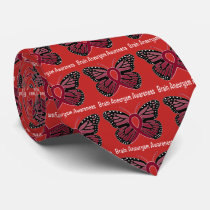 Brain Aneurysm Butterfly Awareness Ribbon Neck Tie