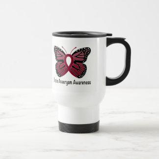 Brain Aneurysm Butterfly Awareness Ribbon Travel Mug