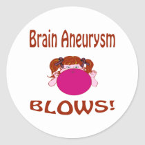 Brain Aneurysm Classic Round Sticker