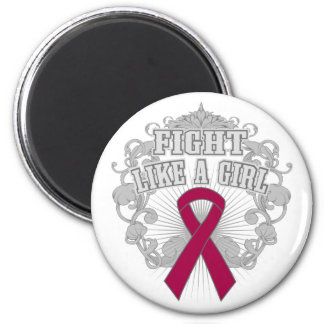 Brain Aneurysm Fight Like A Girl Fleurish 2 Inch Round Magnet