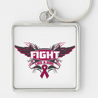 Brain Aneurysm Fight Like a Girl Wings.png Keychains