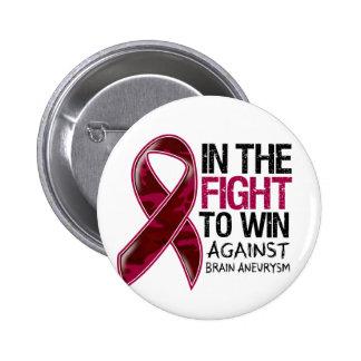 Brain Aneurysm - Fight To Win 2 Inch Round Button