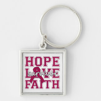 Brain Aneurysm Hope Love Faith Survivor Keychains