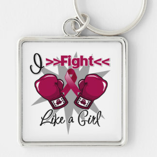 Brain Aneurysm I Fight Like a Girl With Gloves Key Chain