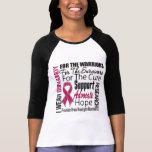 Brain Aneurysm I Wear Burgundy Ribbon Tribute Shirt
