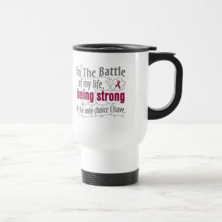 Brain Aneurysm In the Battle 15 Oz Stainless Steel Travel Mug