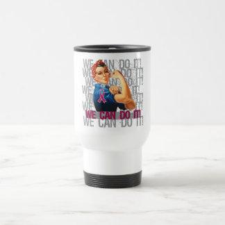 Brain Aneurysm Rosie WE CAN DO IT 15 Oz Stainless Steel Travel Mug