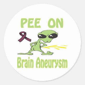 Brain Aneurysm Round Stickers