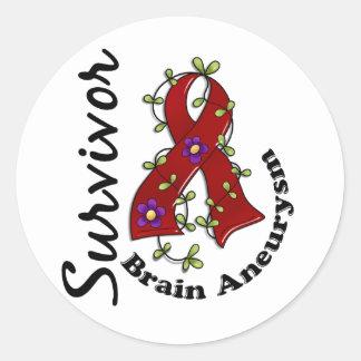 Brain Aneurysm Survivor 15 Classic Round Sticker