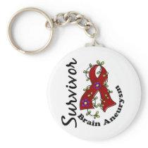 Brain Aneurysm Survivor 15 Keychain
