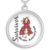 Brain Aneurysm Survivor 15 Silver Plated Necklace