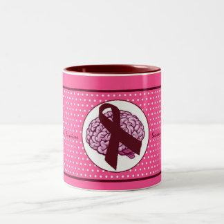 Brain Aneurysm Survivor Pink Polka Dot Coffee Mug