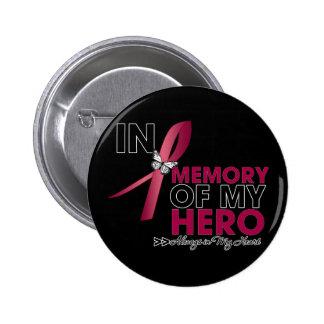 Brain Aneurysm Tribute In Memory of My Hero Button