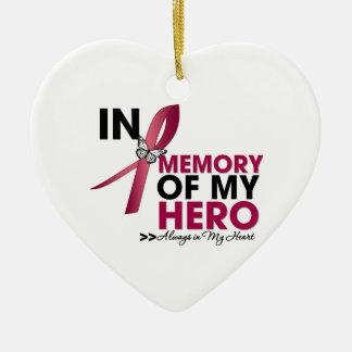 Brain Aneurysm Tribute In Memory of My Hero Ceramic Ornament