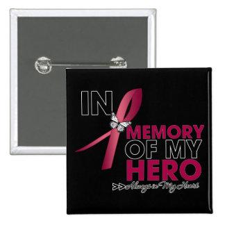 Brain Aneurysm Tribute In Memory of My Hero Pinback Button
