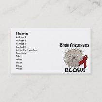 Brain Aneurysms Blows Awareness Design Business Card