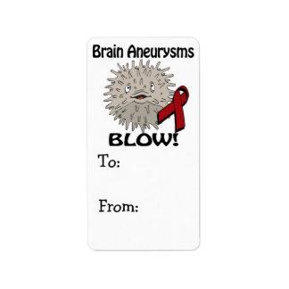 Brain Aneurysms Blows Awareness Design Label